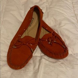 🍀rust driving loafers
